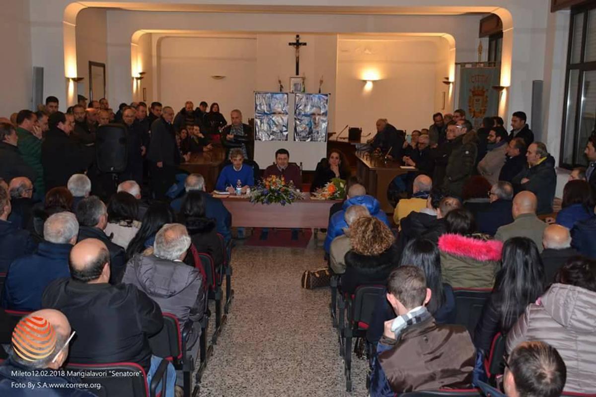 Grande entusiasmo e partecipazione ieri sera, lunedì 12 Febbraio, a Mileto.