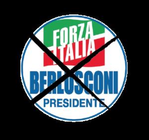 Simbolo forza italia barrato PER VOTARE GIUSEPPE MANGIALAVORI