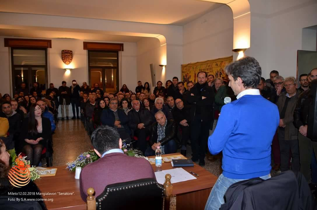 Giuseppe Mangialavori incontra la cittadinanza di Mileto