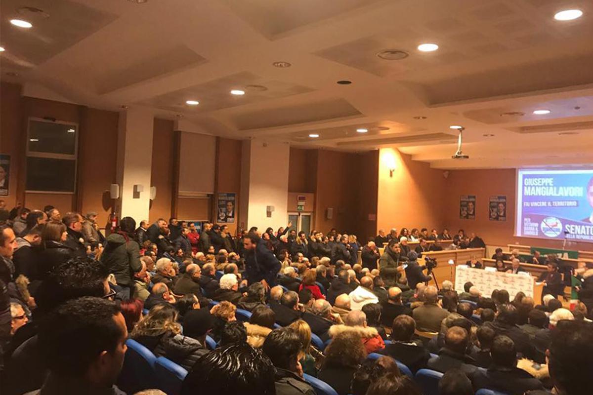 Partecipata convention per il capolista al Senato Giuseppe Mangialavori