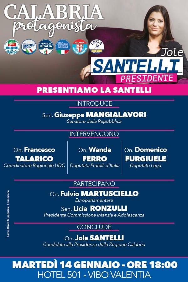 Santelli Presidente - Locandina evento